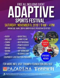 Image of a flyer for the Adaptive Sports Festival